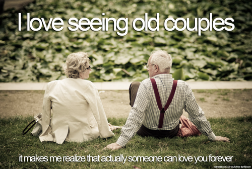 Old couples in love